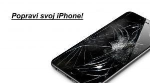 LCD zaslon za iPhone 6s črne barve