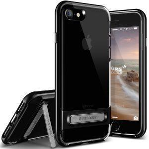 Ovitek VRS Design Crystal Bumper za iPhone 7 – Jet Black